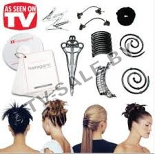Набор заколок для волос Hairagami Total Hair Make Over Kit MINI  (код.9-3504)