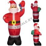 Надувной Дед Мороз с мешком и конфетой 2,4 метра (код.9-4255)