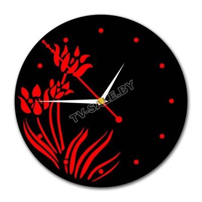 Часы настенные круглой формы цветок