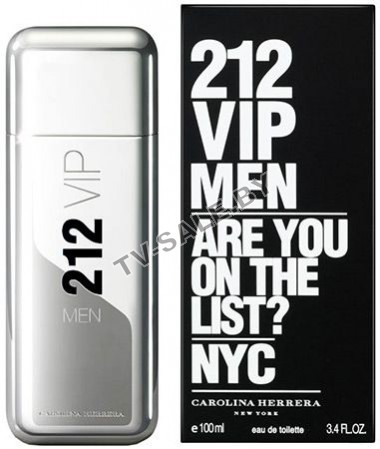 Туалетная вода Carolina Herrera 212 VIP Men 100ml
